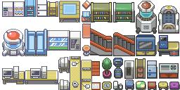 Innenraum Tileset (Pokémon Tileset)